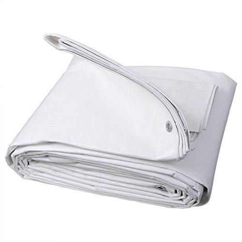 WOLTU Lona Impermeable Lona de Protección , Duradera con Ojales para Muebles, Jardín, Piscina, Coche 180 g/m2 Blanco 2x3m GZ1176m1