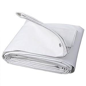 WOLTU Lona Impermeable Lona de Protección, Duradera con Ojales para Muebles, Jardín, Piscina, Coche 180 g/m2 Blanco 2x3m GZ1176m1