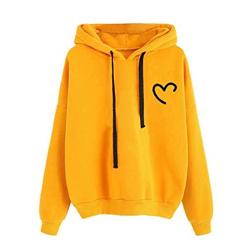 YIKEYO Felpe Tumblr Ragazza 12 14 16 Anni Donna Felpe con Cappuccio e Coulisse - Cuore Hoodie Sweatshirt - Casual Vestiti Ragazza Top Autunno Invernale