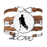 DIYthinker - Pulsera de hockey para deportes de correr, pulsera de educación física, cadena de amor, adorno de cuerda de regalo