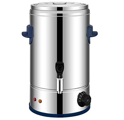 GHKWXUE Dispensador de Bebidas térmica de Gran Capacidad Calefacción eléctrica de Acero Inoxidable Barril Barril Comercial Aislamiento Calefacción Barril Comercial Leche té Barril de 10L / 12L