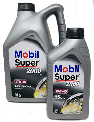 Aceite Lubricante Motor - Mobil Super 2000 X1 10W-40, Pack 6...