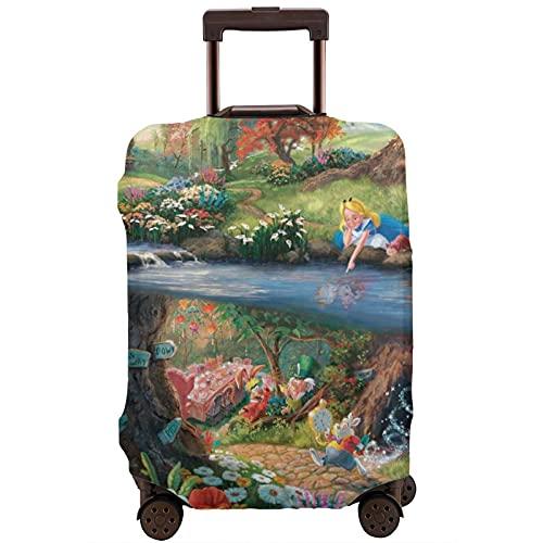 Alicia en el país de las maravillas - Protector de maleta de viaje resistente a los arañazos, a prueba de polvo, elástico y flexible, White (Blanco) - 364519775