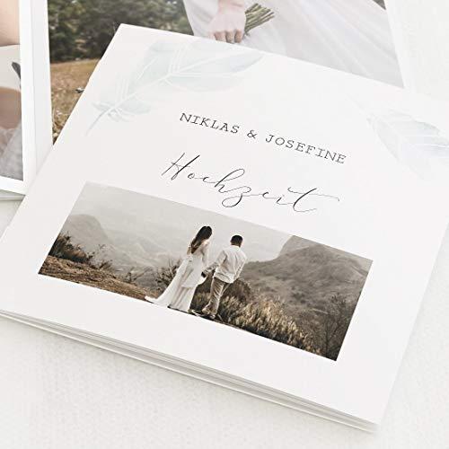 sendmoments Fotobuch Hochzeit Mini-Format Gesegnet, kompakt auf 16 Seiten, im quadratischen Format, personalisiert mit Wunschbildern & -Text, Bilder-Büchlein als Erinnerung oder zum Verschenken