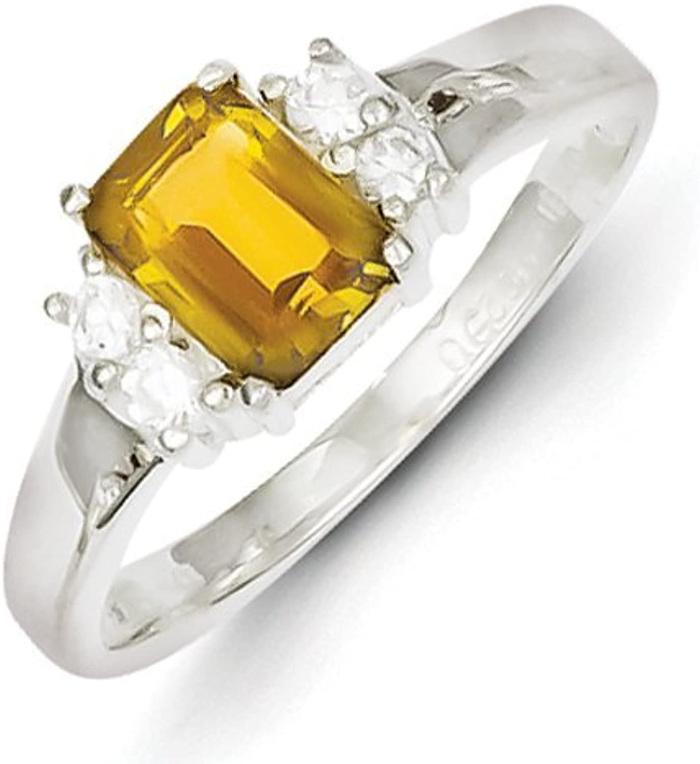 gold and Watches Sterling Silver Yellow & White CZ Ring