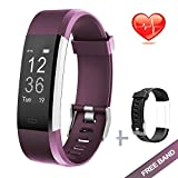 Lintelek Fitness Tracker Waterproof IP67 Smart Watch Pedometer Activity Tracker for Heart Rate