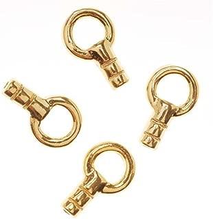 Beadaholique CB/5080G 4-Piece Beading Chain End Cap Fancy Crimp Beads, 22K Gold