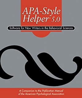 APA Style Helper 5.0: Software for New Writers in the Behavioral Sciences