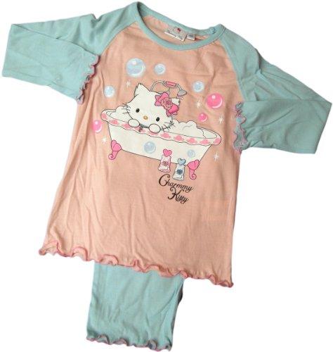 Charmmy Kitty Hello Kitty Schlafanzug - Katzenwäsche - Rosa/Hellblau/Mehrfarbig