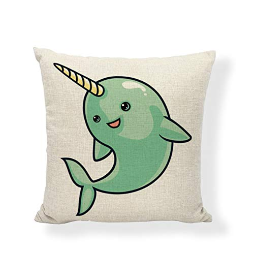 DXSERCV Cushion Cover Cartoon Style Play With Friends Teen Bedroom Living Room Dormitory Bed Home Decoration Pillowcase 45X45Cm