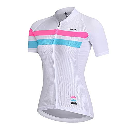 LALEO Maillot de Ciclismo, Camiseta Ropa Paseo Manga Corta Transpirable y Que Absorbe El Sudor, Secado Rápido, Mountain Bike/MTB Maillots