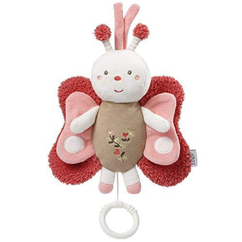 Fehn 068047 Spieluhr Schmetterling / Aufzieh-Spieluhr mit herausnehmbarem Spielwerk zum Aufhängen, Kuscheln und Greifen, für Babys und Kleinkinder ab 0+ Monaten