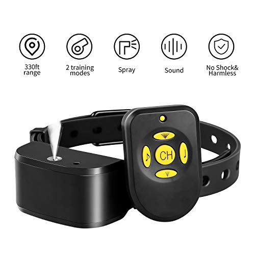 Balight Spray Bark Collar for Dogs, 2 Modes Citronella Bark Control Stop Barking Collar for Dogs Medium Large, Adjustable Rechargeable Waterproof No Shock Harmless&Humane 330ft Range with Remote