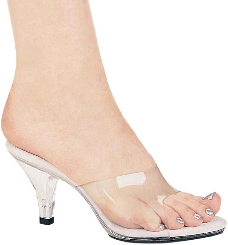 Ellie 305-VANITY 3  Heel Clear Mule