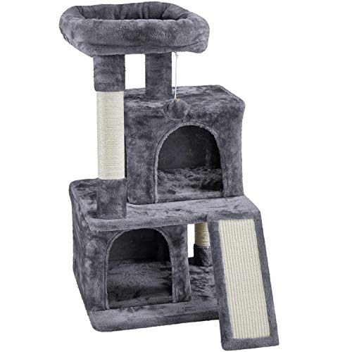 YAHEETECH 36in Cat Tree Cat Tower Play House Climber Stand Furniture with Scratching Post, Plush...