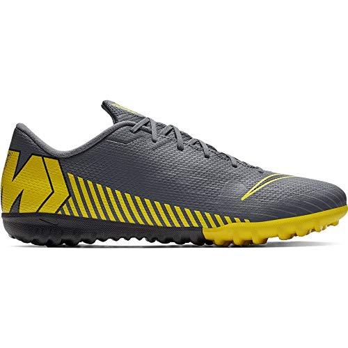 Nike Performance Mercurial Vapor XII Academy TF voetbalschoen heren donkergrijs/geel, 6.5 US - 39 EU - 6 UK