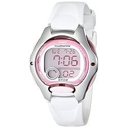 Casio Women's LW200-7AV Digital Watch with White Resin Strap