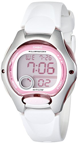 Casio Women's LW200-7AV Digital Watch with White Resin Strap