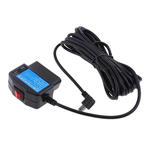 #N/A Cable OBD de 12 V/24 V a 5 V 3 A para coche con regulador de alimentación para DVR GPS, color negro