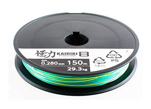 SHIMANO Kairiki 8, 150 Meter, 0.130mm/8.2kg, Línea de Pesca Trenzada, 59WPLA58R22