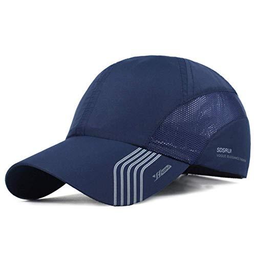 Clape Sun Visor Hats Baseball HatsSports Hat UPF50+ Outdoor Lightweight Waterproof Breathable Ultra Thin Cooling Cap Dark Blue, 56-59CM