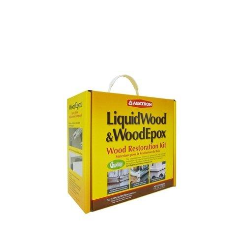 Abatron Wood Restoration 4 Quart Kit Includes 2 Quarts of LiquidWood Epoxy Wood Hardener/Consolidant and 2 Quarts of WoodEpox Epoxy Wood Filler