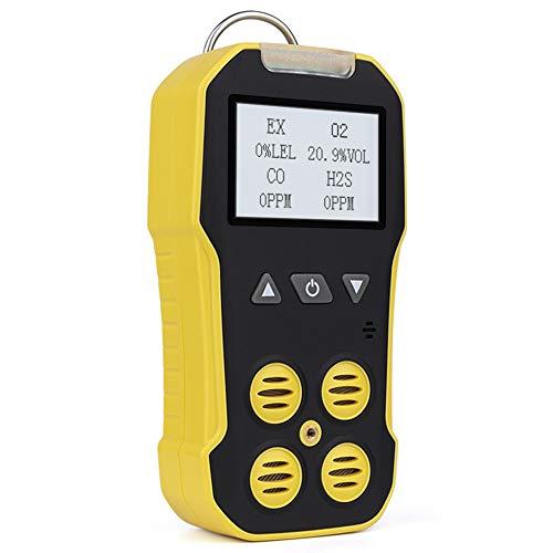 BOSEAN複合ガス測定器 ポータブル 4−in−1 ガス検出器 検知器 ガス漏れ検知 可燃性ガス CH4 硫化水素 H2S 酸素 O2 一酸化炭素 CO ガス/メタンCH4/エタンC2H6/プロパンなどを検知 LCDディスプレイ 三つのアラームモード IP65 高精度 携帯用 USB充電 英語と日本語のページは切り替え可能