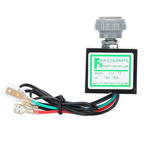 Controllo della temperatura del condizionatore d'aria, interruttore della temperatura dell'aria condizionata, interruttore del termostato elettronico del condizionatore d'aria dell'auto da (12V)