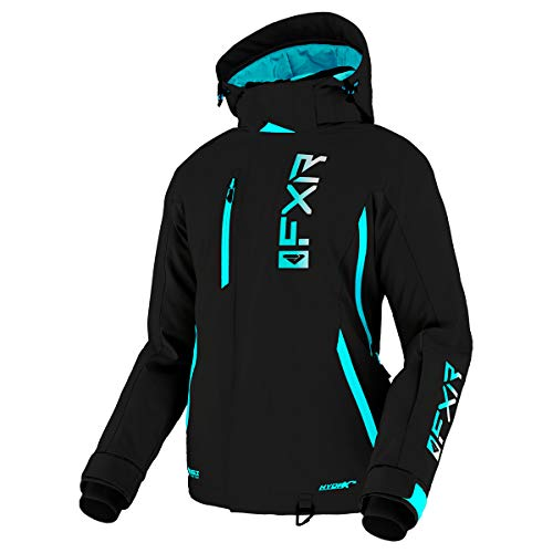 FXR Women's Evo FX Jacket 2021 (Black/Sky Blue/White Fade - 12)