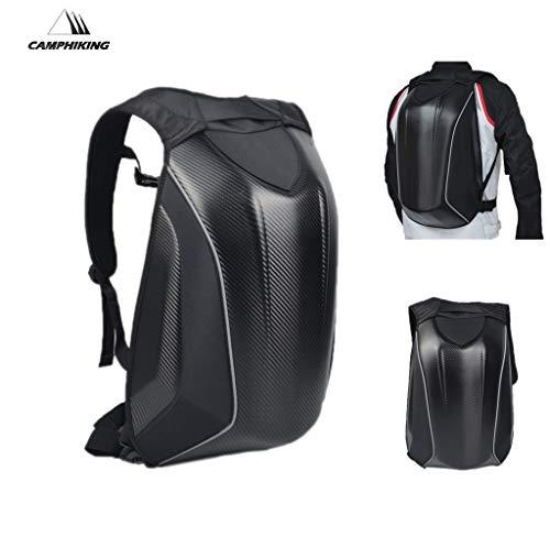 Motorrad Rucksack Fahrrad Rucksack Racing Rucksack Hard Case Tasche Gepäck Taschen Wasserdicht Freizeit Reisetasche Schultertasche für die Aufbewahrung von Handys, Kleidung, Laptops, Helmen und mehr
