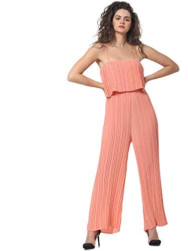 ONLY Damen Onlkelina Strap Jumpsuit WVN, Terra Cotta, 34