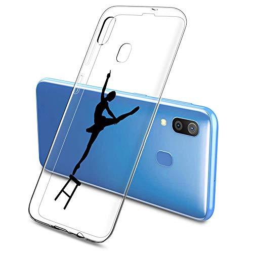 Oihxse Funda Samsung Galaxy J3 2017/J330/J3 Pro, Ultra Delgado Transparente TPU Silicona Case Suave Claro Elegante Creativa Patrón Bumper Carcasa Anti-Arañazos Anti-Choque Protección Caso Cover (A11)