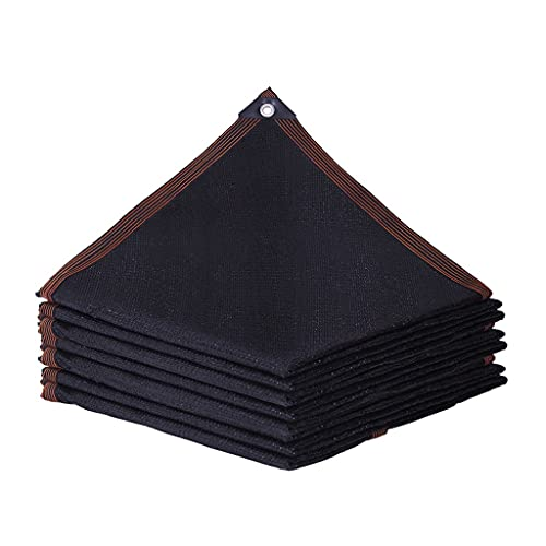 KHUY Malla de Sombreo Negra Toldos para Jardin, Toldos Exterior Terraza Sombrilla Toldo Vela Rectangular con Ojales Cubierta de Invernadero Toldos y Velas Dosel de Sombra (Size : 3x5m)