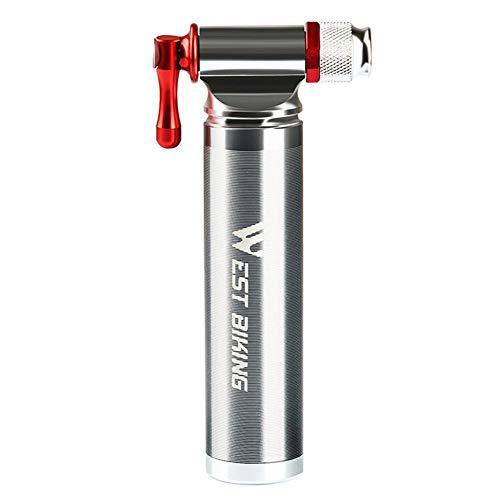 daj Mini bomba de aluminio MTB bicicleta inflador para baloncesto botella inflable de dióxido de carbono portátil rápido CO2