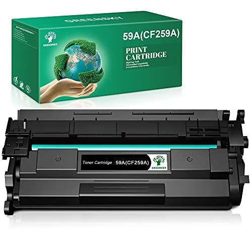GREENSKY Ersatztonerpatrone Kompatibel für HP 59A CF259A 59X CF259X für HP Laserjet Pro M404dn MFP M428fdw M404dw M404n MFP M428dw M428dn Drucker (1 Schwarz ohne Chip)