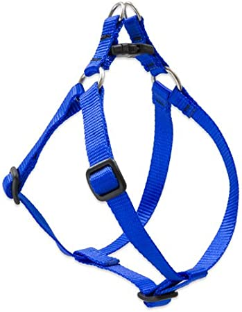 Blaze Orange 3//4-inch// 15-21-inch Lupine Step-In Harness for Small// Medium Dogs