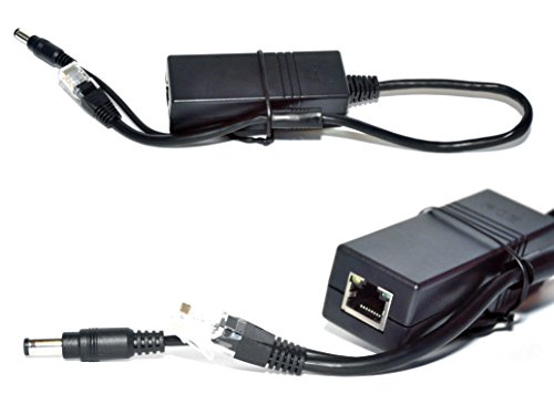USG PoE Splitter to Power Non-PoE Cameras: Splits Incoming PoE Signal to 12V DC Power + RJ45 Ethernet Video, 10/100Mbps, 2A, 24W, IEEE 802.3af/at, True Plug-&-Play, for HD IP Video Surveillance