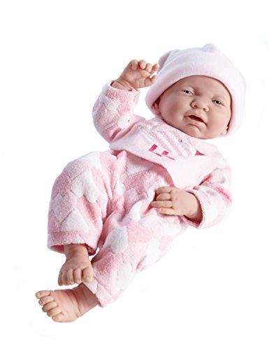 Berenguer 18107–Baby Schlafanzug Herzen, 38cm