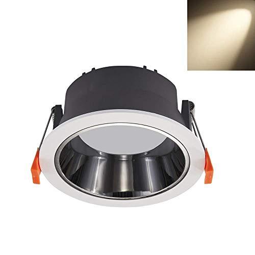 Foco LED empotrable redondo antideslumbrante CRI95 Alta reproducción cromática 120LM / W Luminaria empotrable LED empotrable de alto brillo Luz de techo empotrada con ángulo de luz de 60 grados a pr