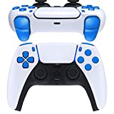eXtremeRate Replacement D-pad R1 L1 R2 L2 Triggers Share Options Face Buttons for PS5 Controller, Blue Full Set Buttons Repair Kits with Tool for Playstation 5 Controller - Controller NOT Included