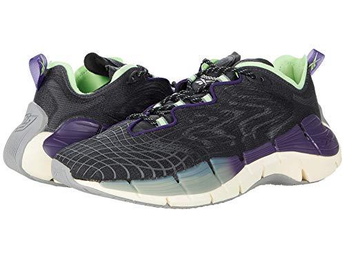 Reebok Women's Zig Kinetica II Sneaker, core Black/Dark Orchid/neon Mint, 6.5