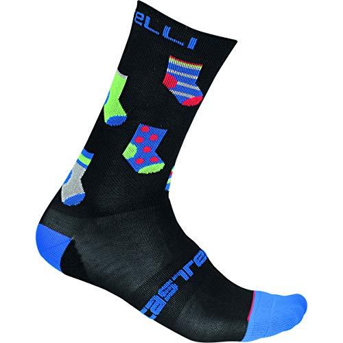 Castelli Pazzo 18 Socke, Schwarz, L/XL, Herren