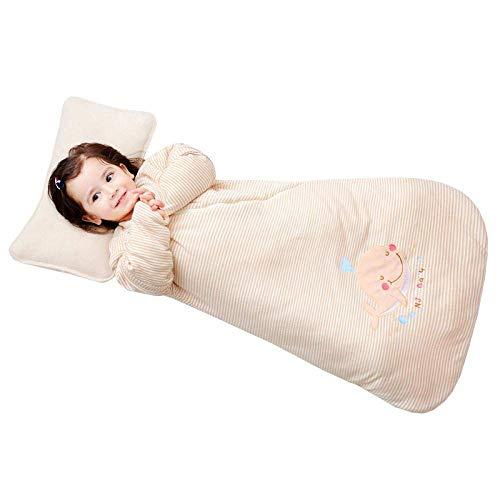 Pijama de bebé Unisex bebé saco de dormir de 0-12 meses de otoño e invierno desmontable suave de la manga algodón anti-choque con aire acondicionado de la habitación Cocoon niños de una sola pieza Pij