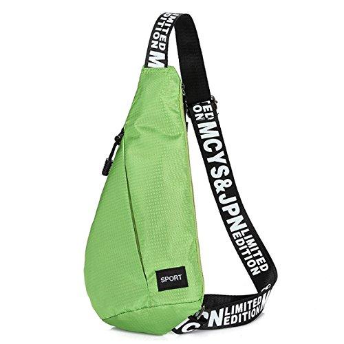 ruifu extérieur Unisexe écharpe épaule sacs tendance en triangle sur la poitrine pour cyclisme Randonnée Camping Voyage, Vert
