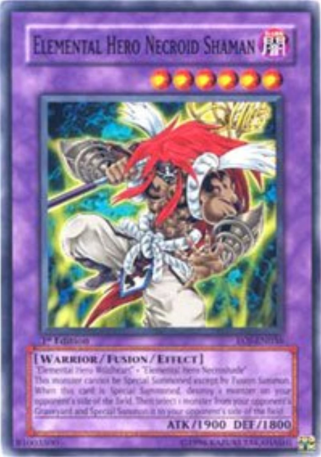 YuGiOh   Elemental Hero Necroid Shaman (EOJEN036)  Enemy of Justice  1st Edition  Common