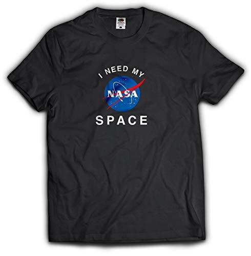 NASA公認Tシャツ(丸首・ラウンドネック)・インサイニア(ミートボール)・フルーツオブザルームボディJ3930HD (L, ブラック)