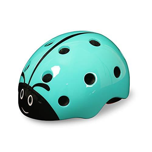 Cascos para niños, mariquita 3D Casco de seguridad para bicicleta con forro...