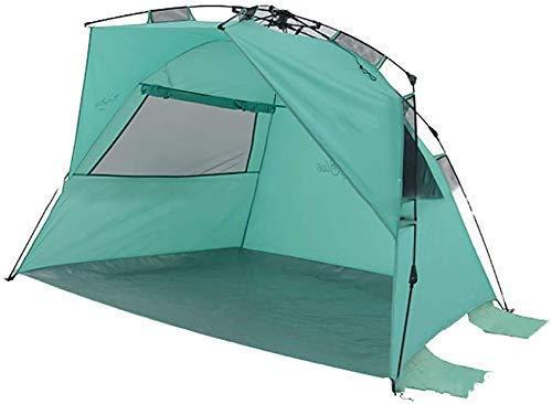 Large Capacity Dual Purpose Tent, 3-4 Person Beach Sun Shelter Waterproof Shade Family Vacation Rainfly Waterproof Folding Portable Multifunctional