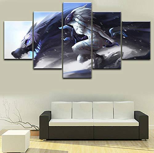 Afdrukken Op Canvas Kunstdruk Op Canvas Hd-Afbeeldingen Frameloze Draak Abstract Schilderij Huis Wanddecoratie Canvas Olieverfschilderij Kunst Schilderij