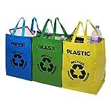 compartimento abierto no tejidas bolsas de reciclaje separadas Set de 3 Cozymom Deco